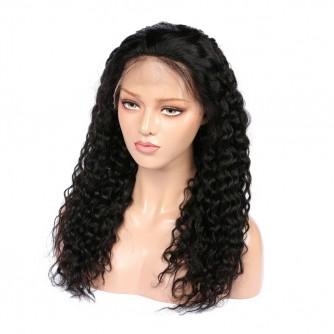 Virgin Brazilian Hair Deep Wave Lace Front Wigs