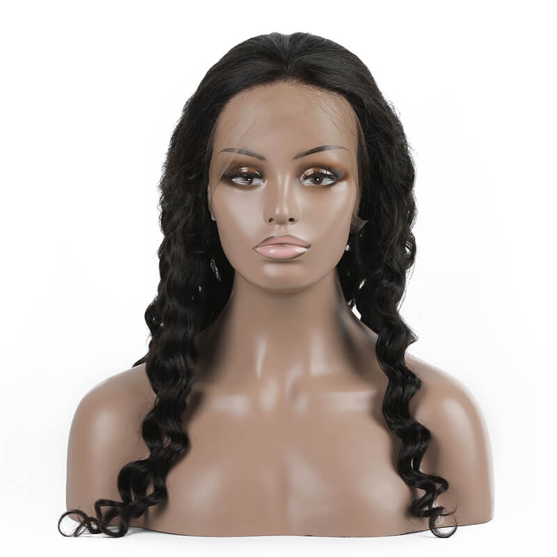 Virgin Hair Brazilian Kinky Curly Lace Front Wigs