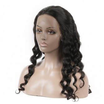 Loose Curly Virgin Brazilian Hair Lace Front Wigs