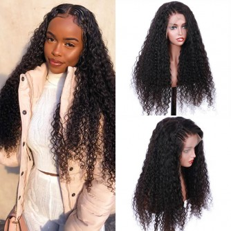 13X6 Brazilian Virgin Human Hair Curly Lace Front Wigs - 10~24inches