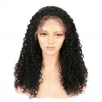 Virgin Indian Hair Deep Curly Lace Front Wigs