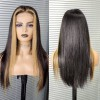 Highlight Straight Human 13x6 Size Hair Lace Front Wigs
