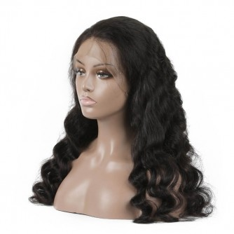 Brazilian Virgin Hair Loose Wave Lace Front Wigs