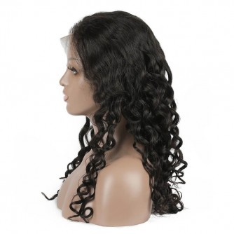 Natural Wave Virgin Malaysian Hair Lace Front Wigs
