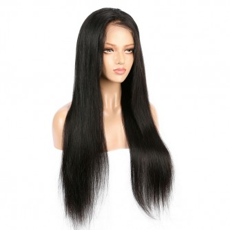 Straight Peruvian Natural Hair Lace Front Wigs