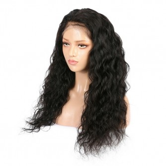 Brazilian Virgin Hair Natural Wave Lace Front Wigs
