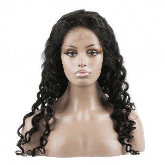 Water Wave Virgin Peruvian Hair Lace Front Wigs