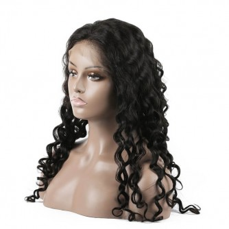 Brazilian Virgin Hair Water Wave Lace Front Wigs