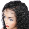 Curly Lace Front Virgin Brazilian Hair Bob Wigs