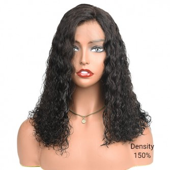 Water Curly Lace Front Virgin Brazilian Hair Bob Wigs