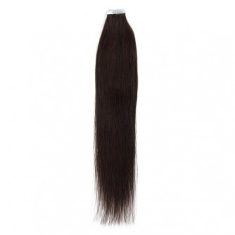 Dark Brown 2# Straight Tape In Human Hair Extensions