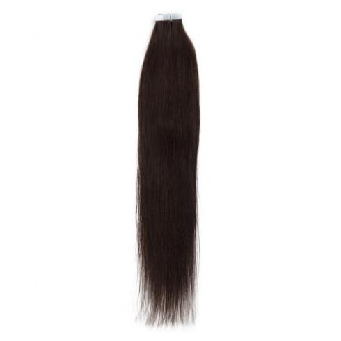 Dark Brown 2# Straight Tape In Human Hair Extensions