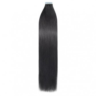 Jet Black 1# Straight Remy Tape In Hair Extensions