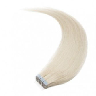 Straight 60# Ash Blonde Tape Invisible Hair Extensions