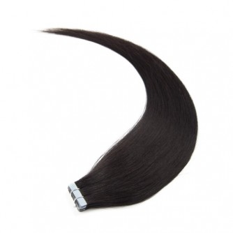 Straight 1B Natural Black Tape In Hair Extensions