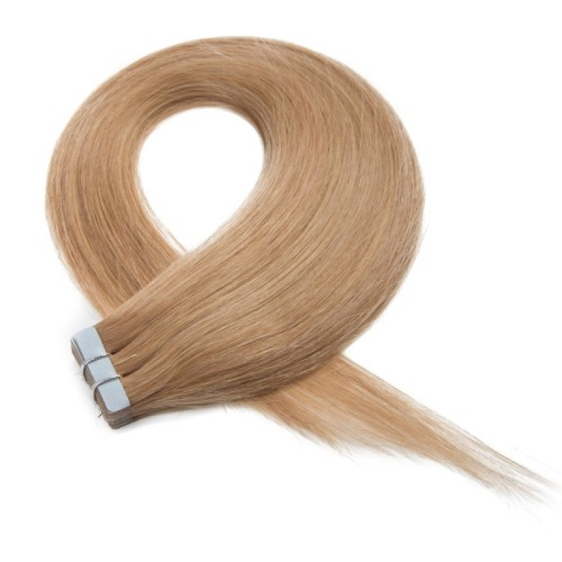 Strawberry Blonde 27 Straight Invisible Tape Hair Extensions