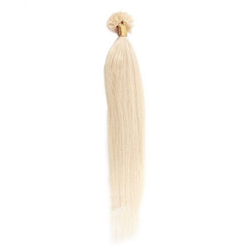 Straight 60# Ash Blonde U Tip Hair Extensions