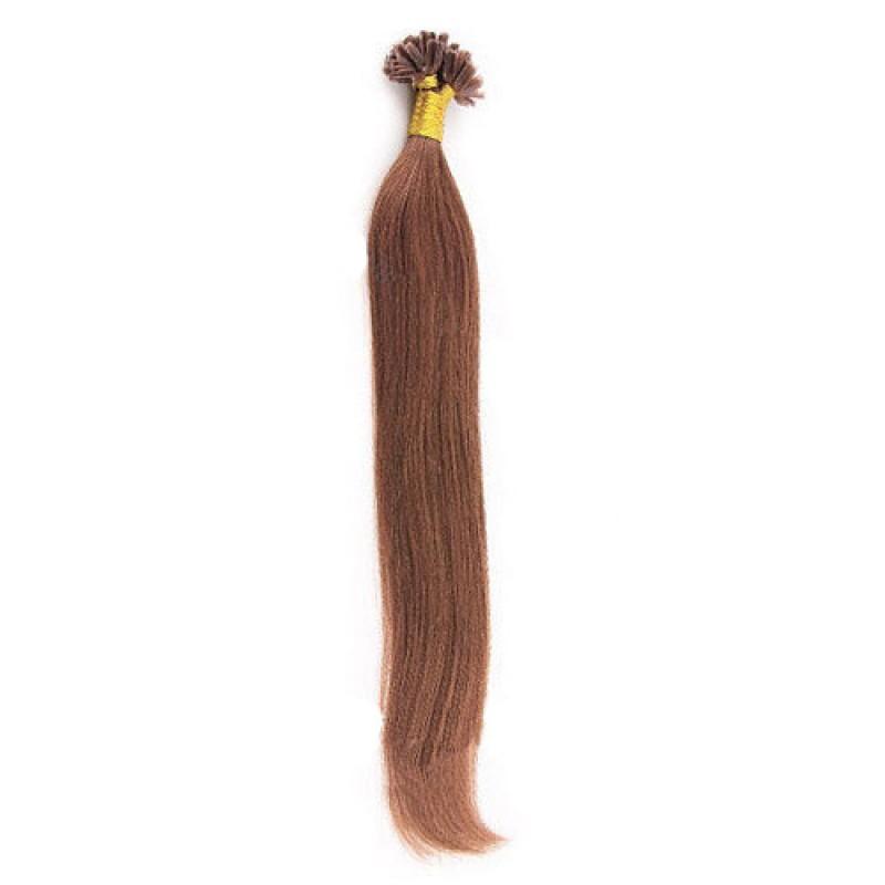 Straight Dark Auburn U Tip Hair Extensions